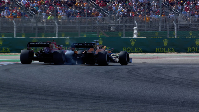 2021 United States Grand Prix: Sainz and Ricciardo make contact in P5 fight