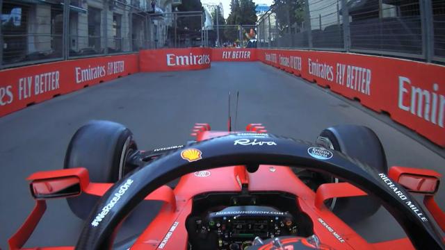 2021 Azerbaijan Grand Prix: Sainz locks up into run-off area
