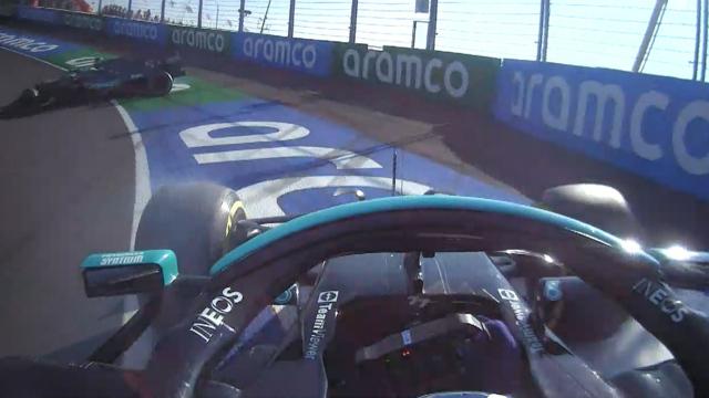 2021 Dutch Grand Prix: Bottas narrowly avoids spinning Vettel