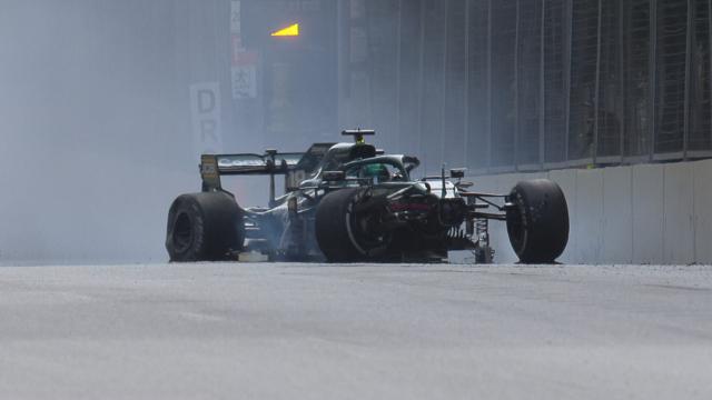 "2021 Azerbaijan Grand Prix: Stroll escapes heavy high-speed crash"""