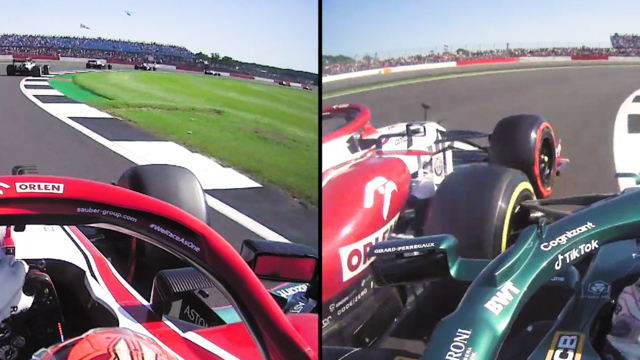2021 British GP F1 Sprint: Räikkönen and Stroll touch on first lap
