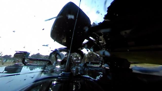 Watch Hamilton and Verstappen's Monza crash in 360