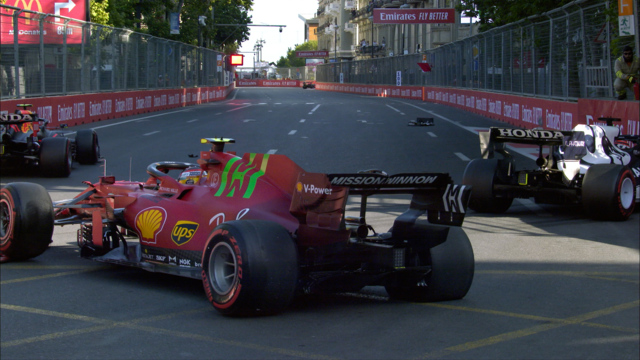 2021 Azerbaijan GP Qualifying: Leclerc takes pole position as Tsunoda and Sainz crash