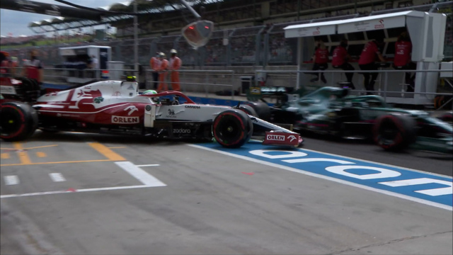 2021 Hungarian GP FP3: Giovinazzi clips Stroll in pit lane before Gasly near miss