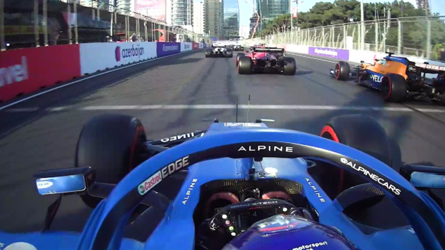 2021 Azerbaijan Grand Prix: Alonso charges through field to P6 at race restart